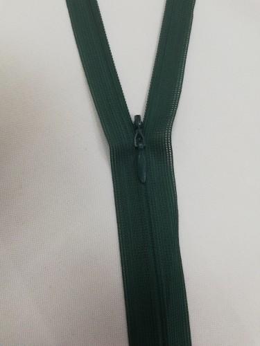 272 Молния потайная Т3 20см цв.т.зеленый(в упак.100шт)