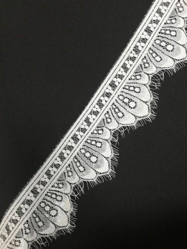 032-1А Кружево реснички шир.8,5см цв.белый(в упак.60м)
