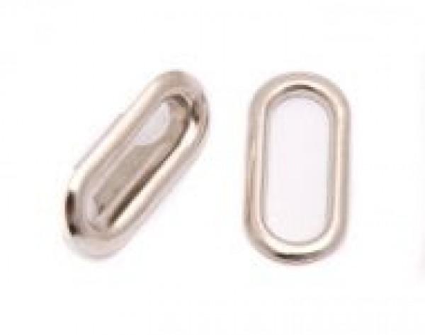 Люверсы овальные стальные 18мм цв.никель(в упак.1000шт)