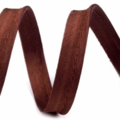 304 Кант атласный цв.коричневый(в рул.72 Yds)