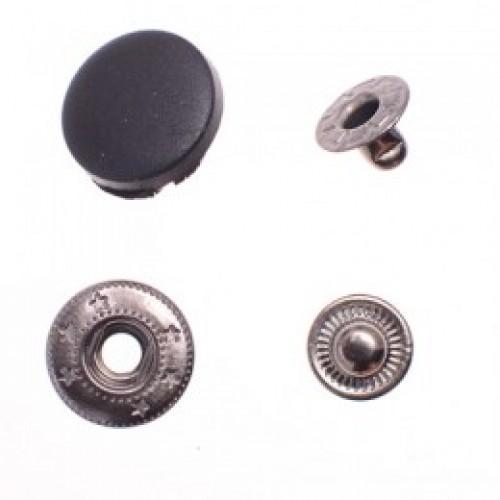Головка пластиковая 15мм для кнопок №54 12,5мм цв.черный(в упак.720шт)