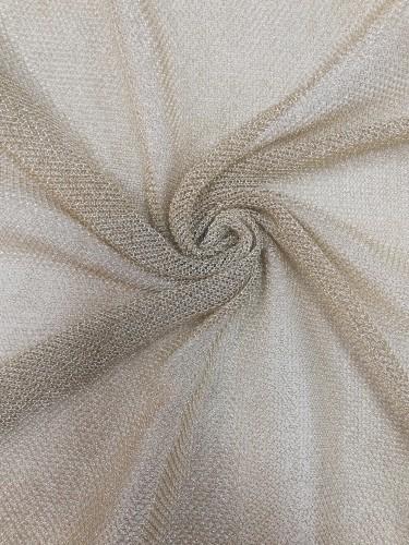 Ткань на сетке металлизированная шир.150см цв.золотой(в рул.92м)