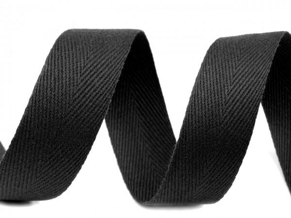 Киперная лента 20мм цв.черный(в рул.100м)