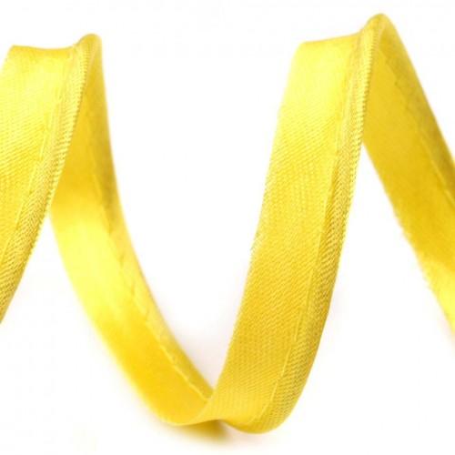 110 Кант атласный цв.желтый(в рул.72 Yds)