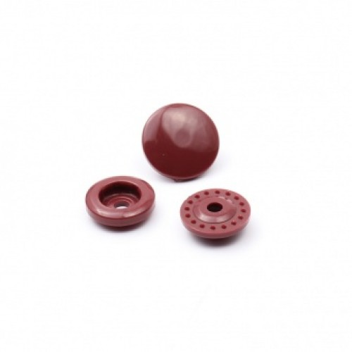 Кнопка пластиковая 13мм цв.бордо(в упак.1000шт)