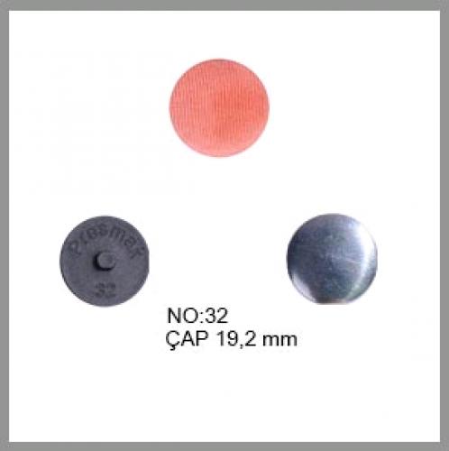 Заготовка для обтяжки пуговиц на пластиковой ножке №32 20мм цв.черный(в упак.500шт)