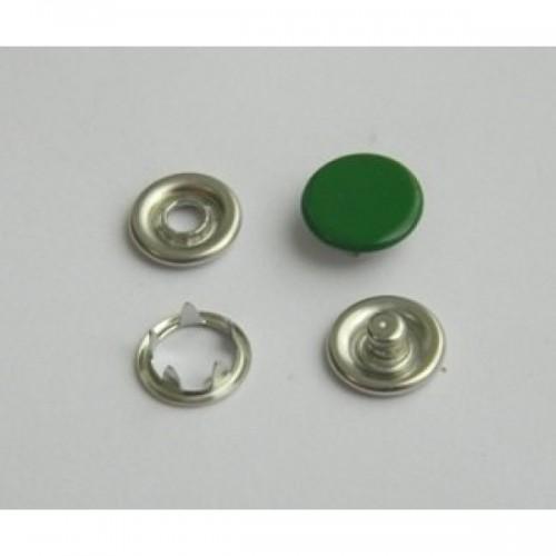 273 Кнопка нержавеющая трикотажная закрытая 09,5мм цв.т.зеленый(в упак.1440шт)