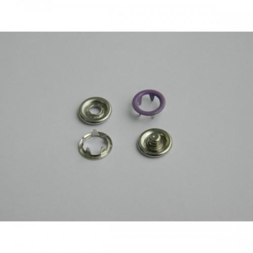167 Кнопка нержавеющая трикотажная кольцевая 09,5мм цв.т.сиреневый(в упак.1440шт)
