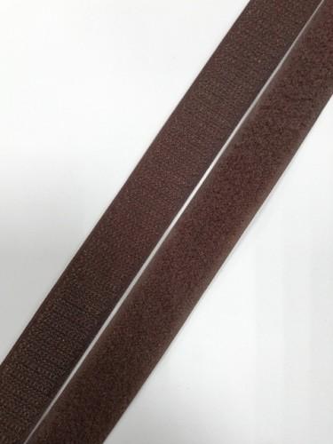 Липучка 025мм цв.коричневый(в рул.25м)