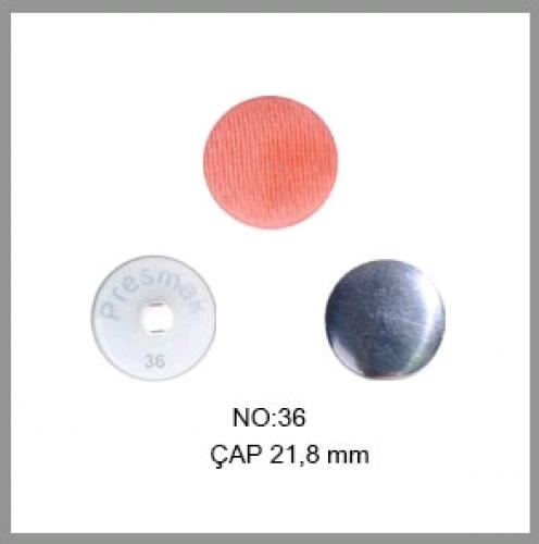 Заготовка для обтяжки пуговиц на пластиковой ножке №36 23мм цв.белый(в упак.500шт)