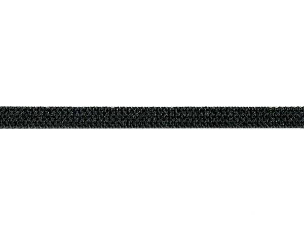 Резинка вязаная стандартная 006мм цв.черный(в рул.100м)