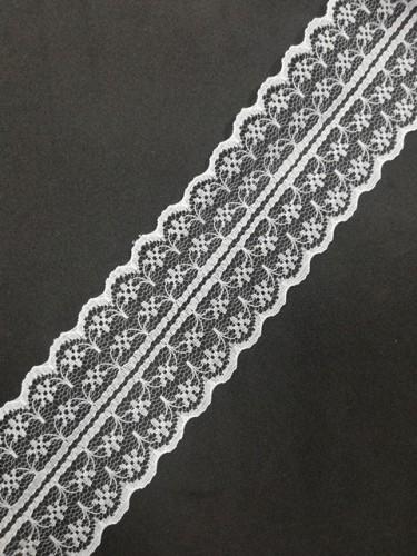 133-2А Кружево гипюровое полиэстер шир.4,5см цв.белый (в рул.274,32м)