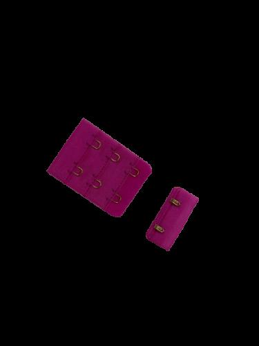 Бельевые застежки на ткани 3х2 38мм цв.D312 розовый(в упак.100шт)