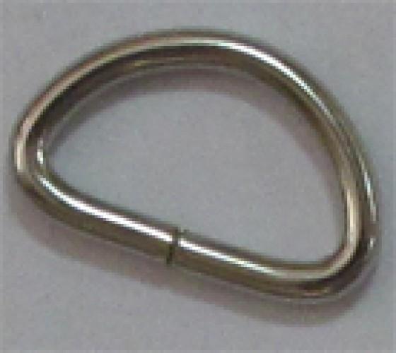 Полукольцо 3*15*25мм цв.никель(в упак.500шт)
