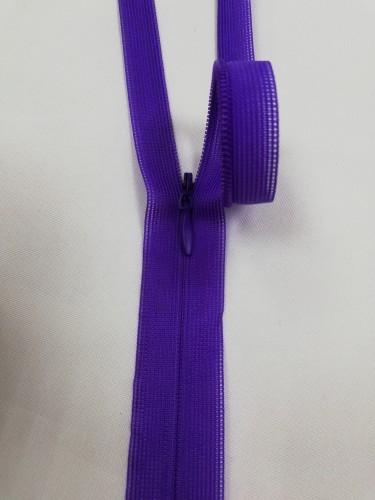 170 Молния потайная Т3 50см цв.т.фиолетовый(в упак.100шт)