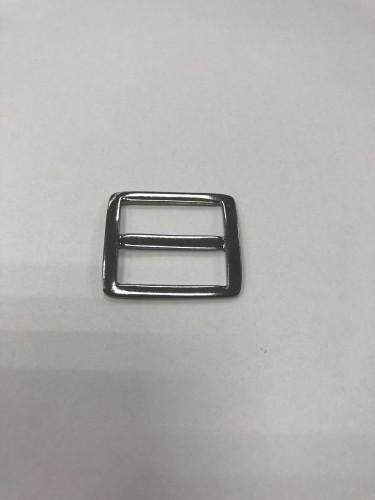 20018АА Пряжка-рамка металлическая 2,3см цв.ч.никель(в упак.100шт)