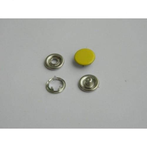 111 Кнопка нержавеющая трикотажная закрытая 09,5мм цв.желтый(в упак.1440шт)