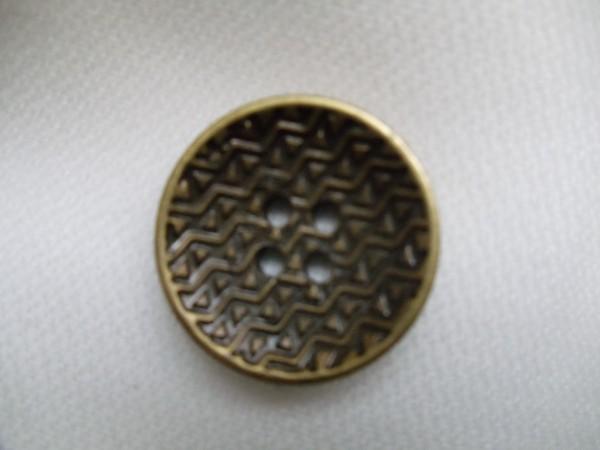 0726 Пуговица металлическая №34 21мм цв.антик(в упак.1000шт,в кор.№637)