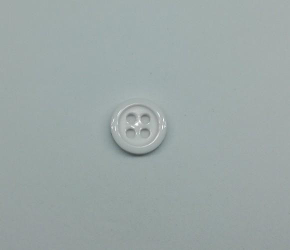 4014 Пуговица сорочечная №14 9мм цв.белый(в упак.10000шт,офис)
