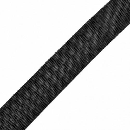 322 Стропа текстильная 25мм цв.черный(в рул.100м)