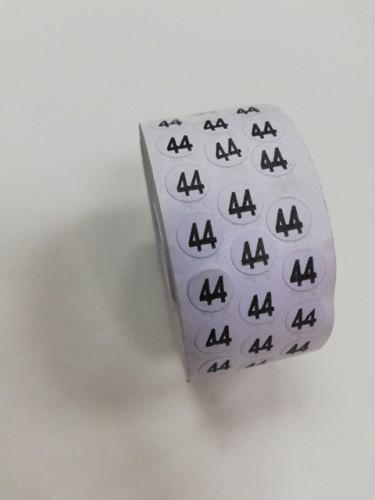 44 Размерники на самоклеящейся бумаге цв.белый(в рул.5000шт)