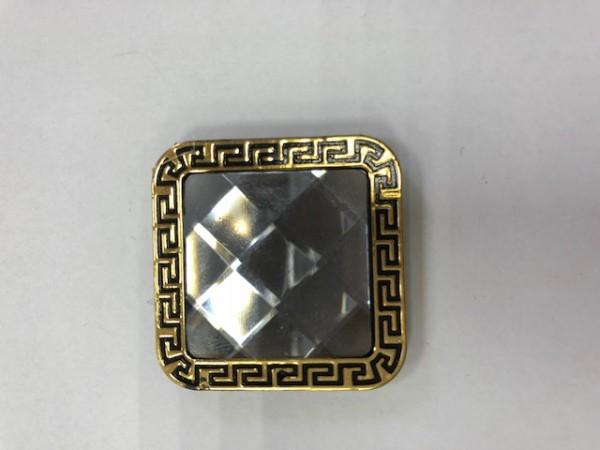 K01 Стразы декоративные пришивные Gold R-15(в упак.50шт)