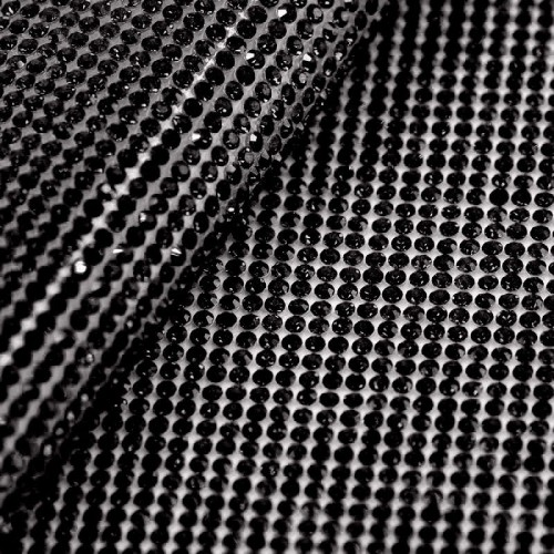 Стразы в ободке SS10 3мм Black 45*55см