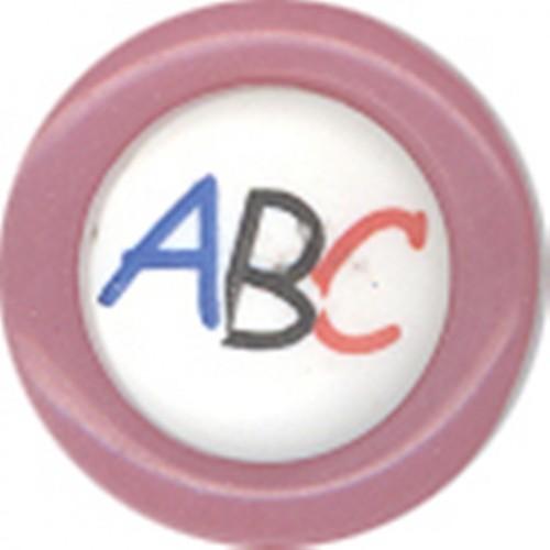 """Пуговицы детские в наборе """" ABC"""" №24 15мм 12цв.(в упак.1200шт)"""