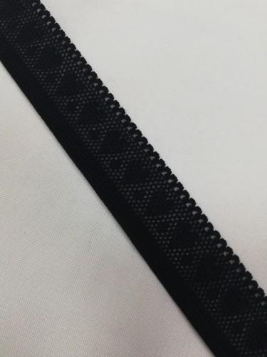Резинка ажурная сердечко 25мм цв.черный(в рул.500м)