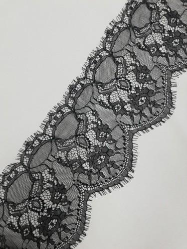 028А-V Кружево реснички шир.15см цв.черный(в упак.30м)