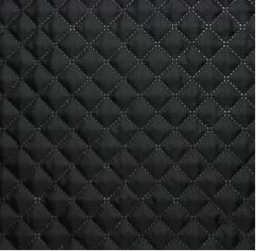Стеганый синтепон мелкий ромб 60г/м подклад 190Т 150см цв.черный(в рул.50м)