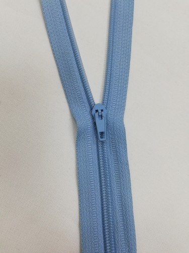 184 Молния спираль Т4 20см неразъемная цв.голубой(в упак.100шт)