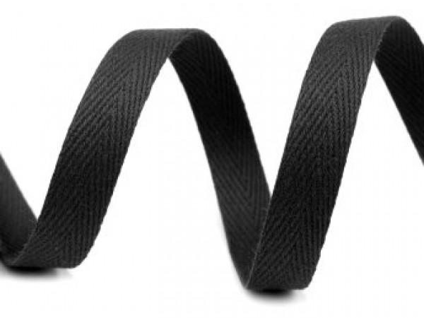 Киперная лента 10мм цв.черный(в рул.50м)
