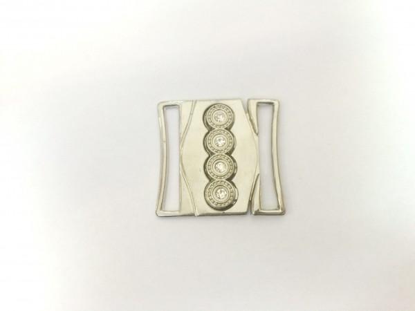 2321TMR Пряжка декоративная цв.никель(в упак.100шт)