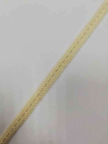 0032СТ Кружево вязаное хлопок шир.0,8см цв.кремовый(в упак.30м)