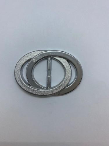 130ТКА Пряжка металлическая 3см цв.никель(в упак.500шт)