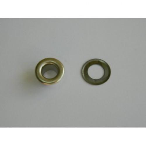 Люверсы нержавеющие №4 6мм никель(упак.2500шт)