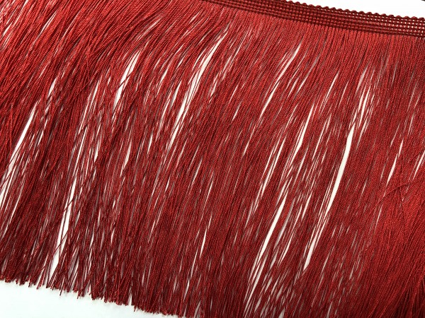 Бахрома шелковая 16см цв.красный(упак.25м)