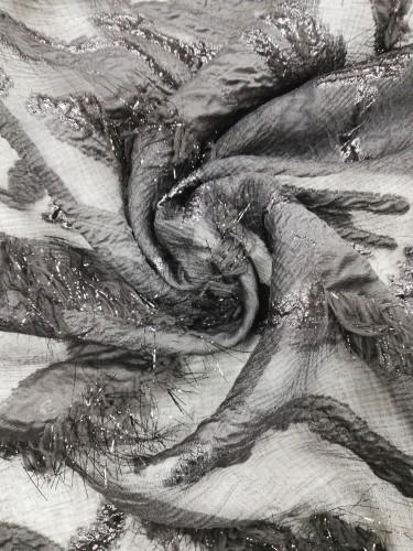 57034-003/В002 Ткань нарядная шир.142см цв.черный(в рул.54м)